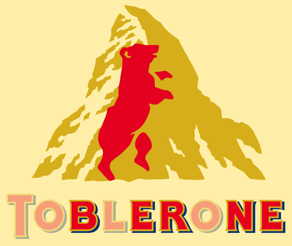 Bear Hidden in Toblerone Logo