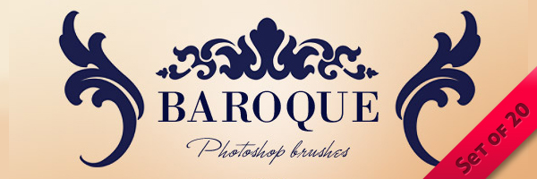Baroque Ornaments Photoshop Brushes