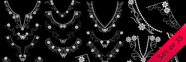 Patchwork Decorative Necklines