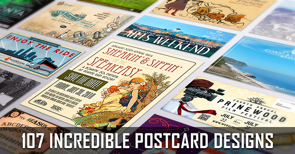 Postcard Design Ideas business idea postcard template 107 Incredible Postcard Designs To Inspire Your Creativity