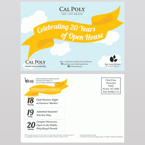 cal poly slo open house - Postcard Design Ideas