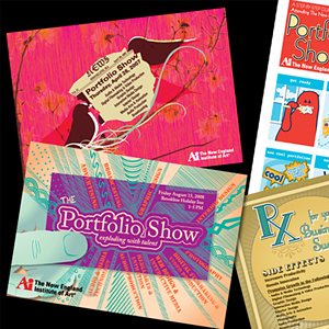 college portfolio show postcard invites - Postcard Design Ideas