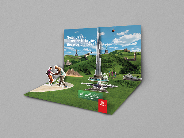 Emirates Pop-up Postcard