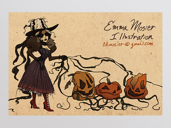 Emma Mosier Illustrated Postcard