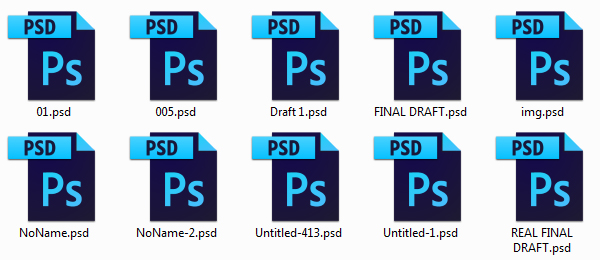 Save your files with confusing names