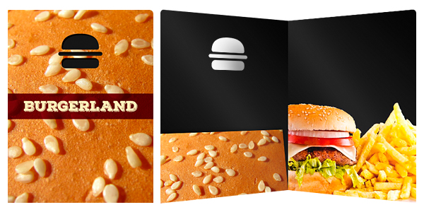 Burger Folder Design with Rule of Thirds Interior
