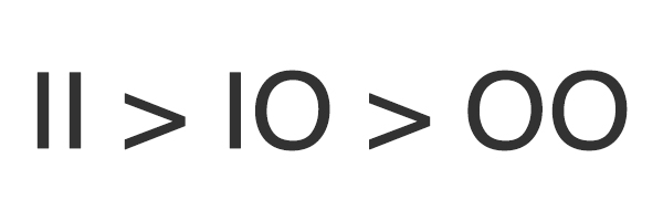 II is greater than IO is greater than OO