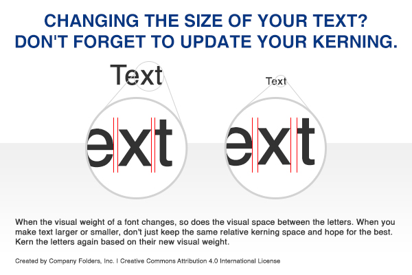 Kerning Large vs. Small Text