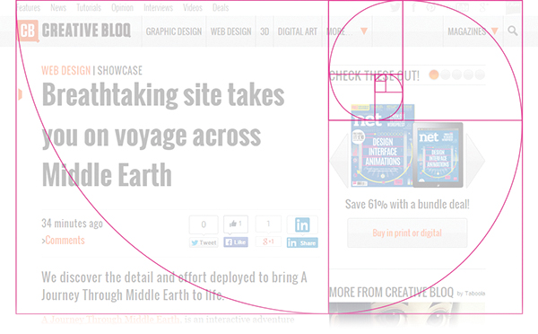 The Golden Ratio in Web Design