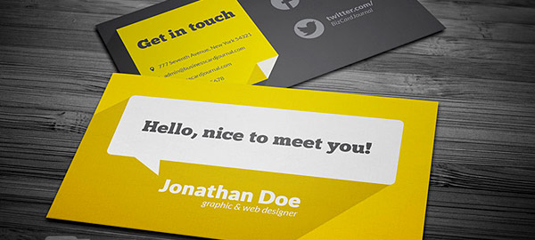 Choose Color Scheme Image Credit Business Card Journal
