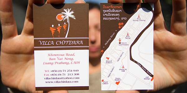 Business card design with a map