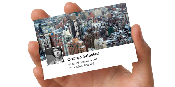 Business card design with photos