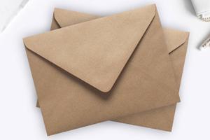 A7 Ribbed Kraft Envelopes
