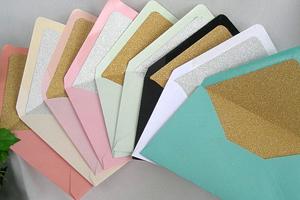 AllThingsAngelas Glitter Lined Envelopes