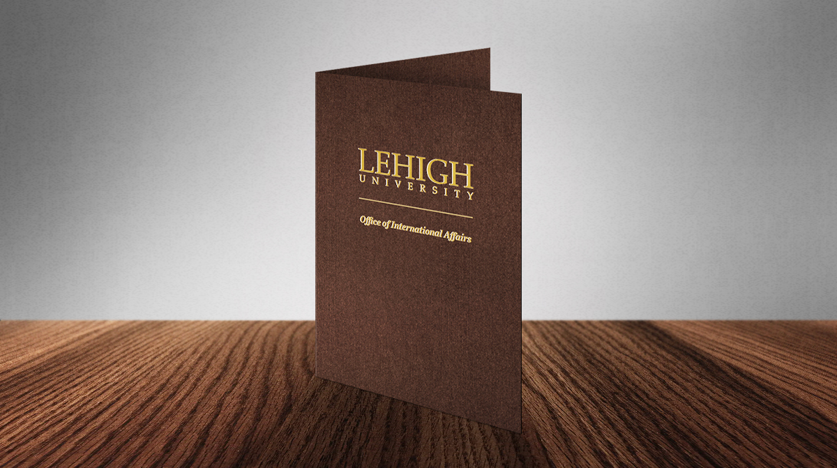 Brown Paper Presentation Folders
