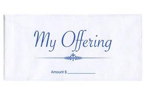 My Offering Pew Envelopes