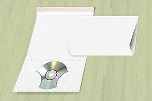 Single CD/DVD Wrap Around Disc Mailer Envelope w/ Pocket