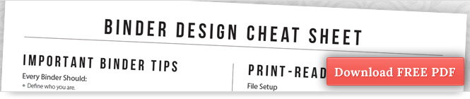Download Binder Design Cheat Sheet