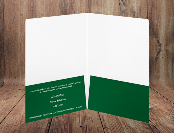 Parr Insurance Agency, Inc. Folder (Inside View)