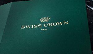 High-Quality, Luxury Presentation Folder for Swiss Crown USA