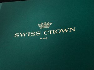 High-Quality, Luxury Presentation Folder for Swiss Crown USA