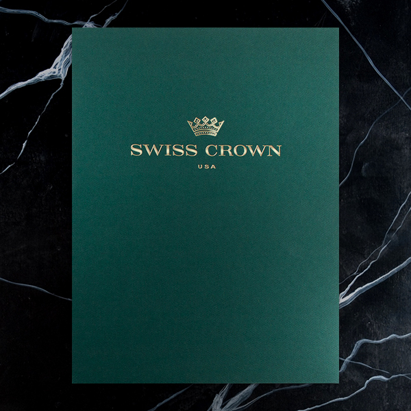 Swiss Crown Folder Design (Front View)