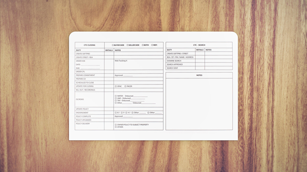 Legal Size Top Tab File Jacket (Back Cover) Design
