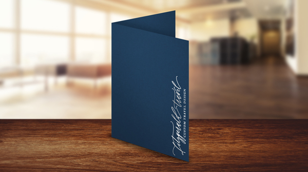 Foil Stamped Folders for Travel Agents