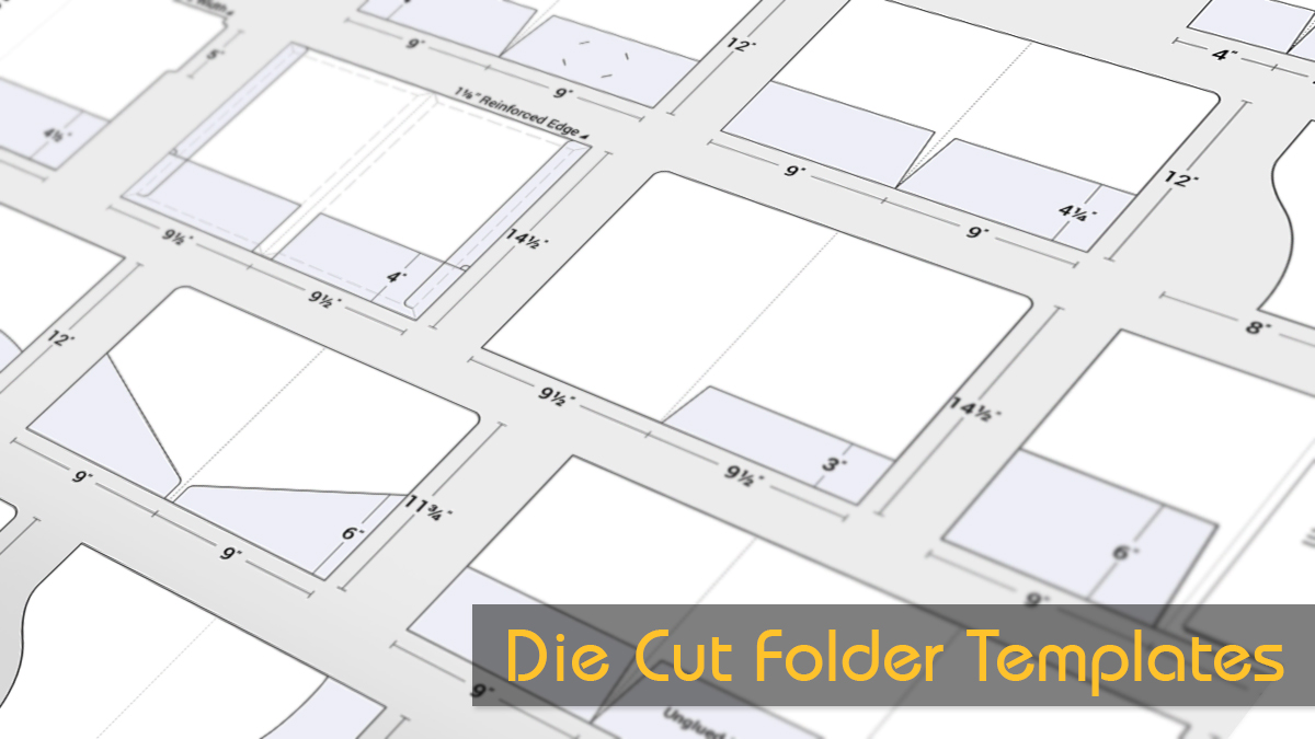 Die Cut Presentation Folder Templates