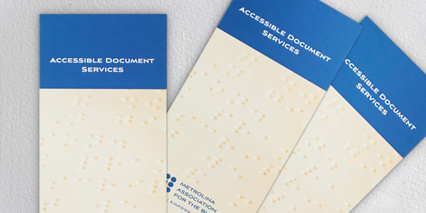 Company Services Brochure Design with Braille