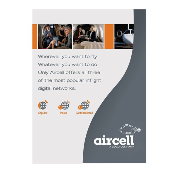 Aircell Single-Pocket Presentation Folder (Front View)