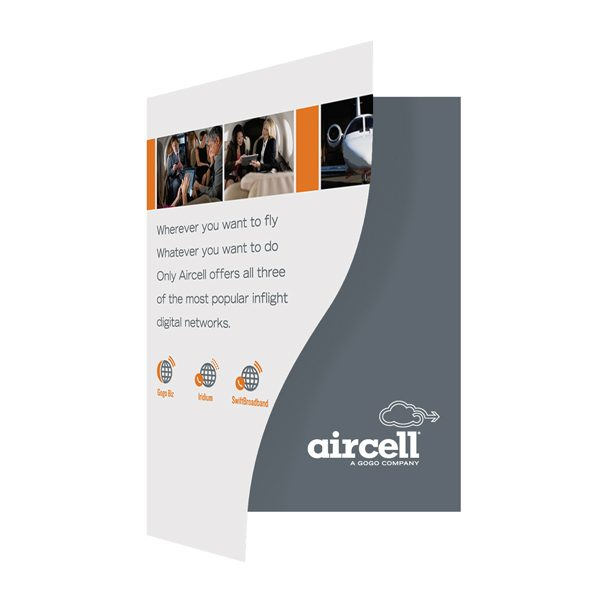Aircell Airplane Presentation Folder (Front Open View)