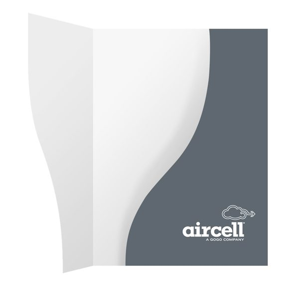 Single Pocket Presentation Folders for Aircell (Inside View)