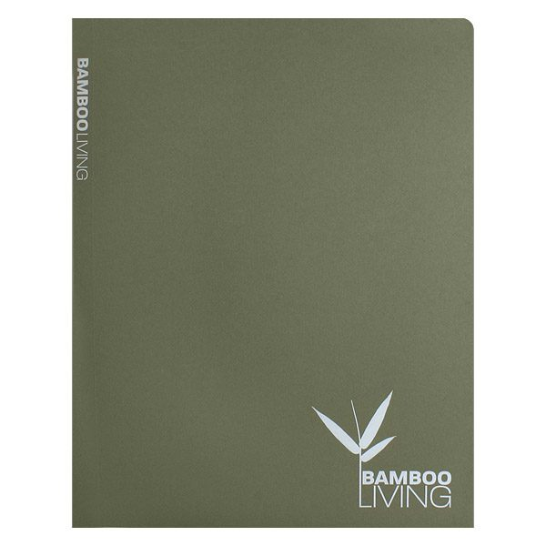 Bamboo Living Eco-Friendly Presentation Folder (Front View)
