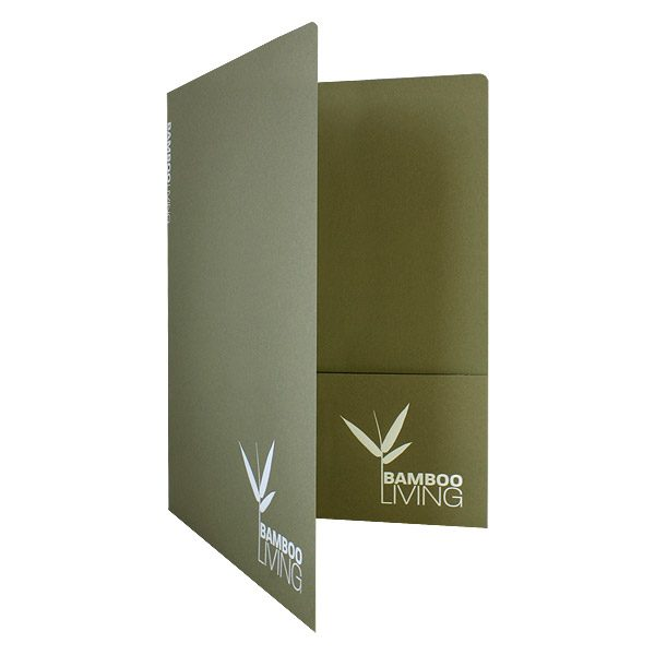 Eco-Friendly Presentation Folders for Bamboo Living (Front Open View)