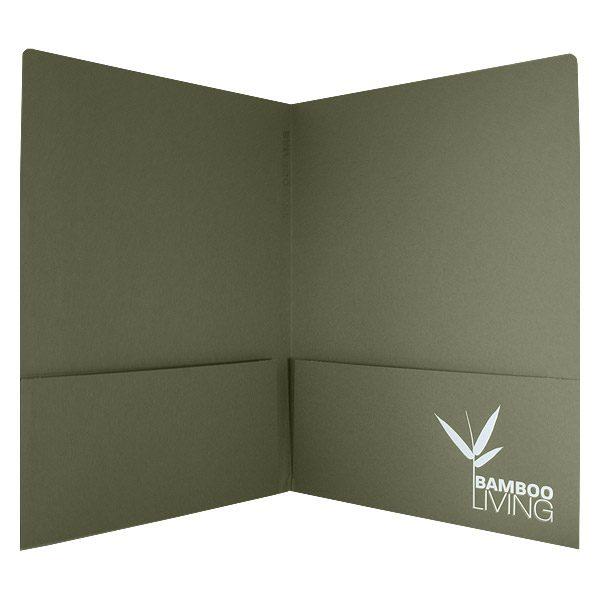 Bamboo Living Green Pocket Folder (Open View)