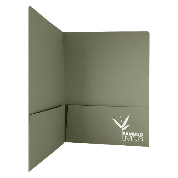 Bamboo Living Recycled Presentation Folder (Inside Right View)