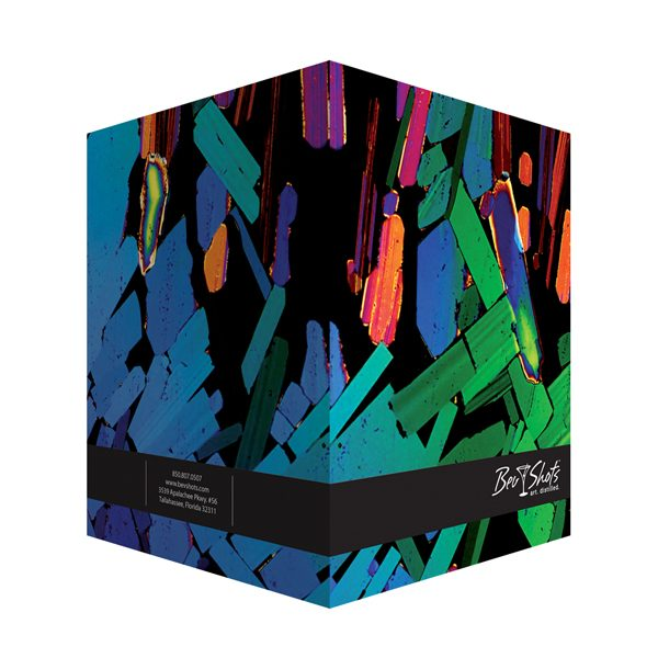 BevShots Kaleidoscopic Presentation Folder (Front and Back View)