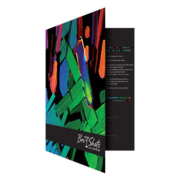 Artistic Presentation Folders for BevShots (Front Open View)
