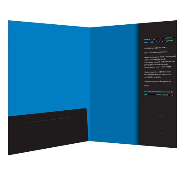 BevShots Dramatic Fine Art Presentation Folder (Inside View)