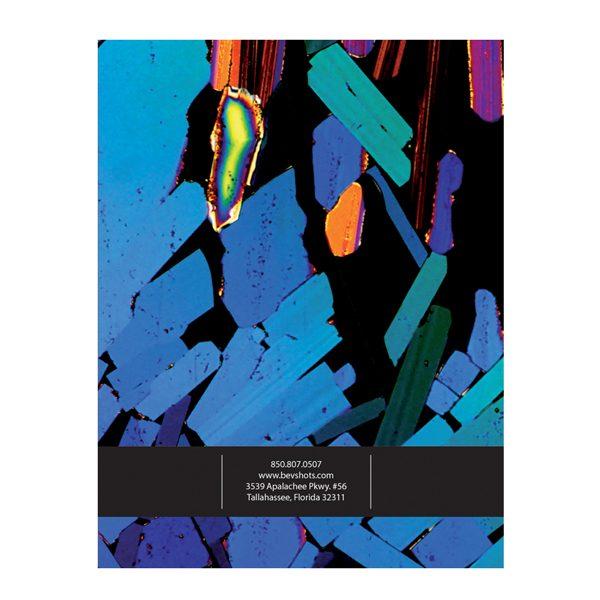 BevShots Abstract Presentation Folder Design (Back View)