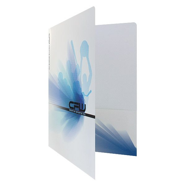 Company Presentation Folders for Creative Sports Inc.(Front Open View)