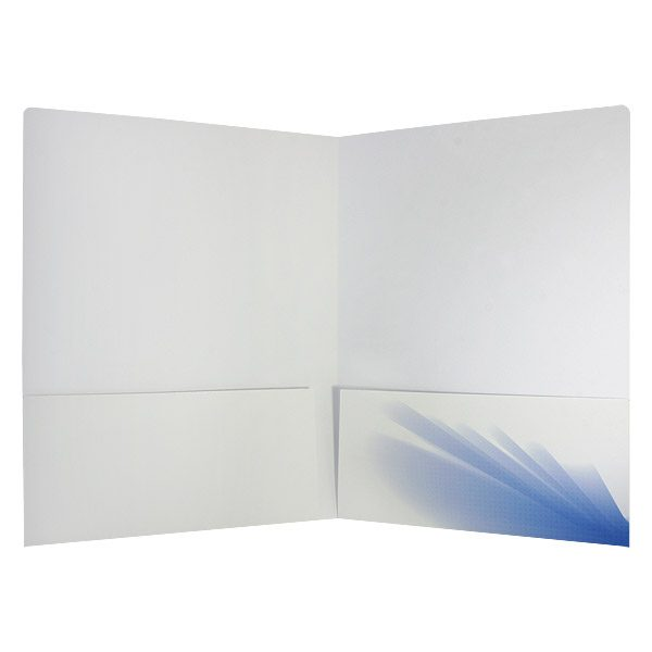 Blue Abstract Modern Pocket Folder (Inside View)