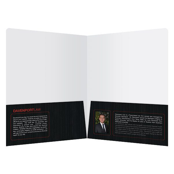 Davenport Law Firm Marketing Folder (Inside View)