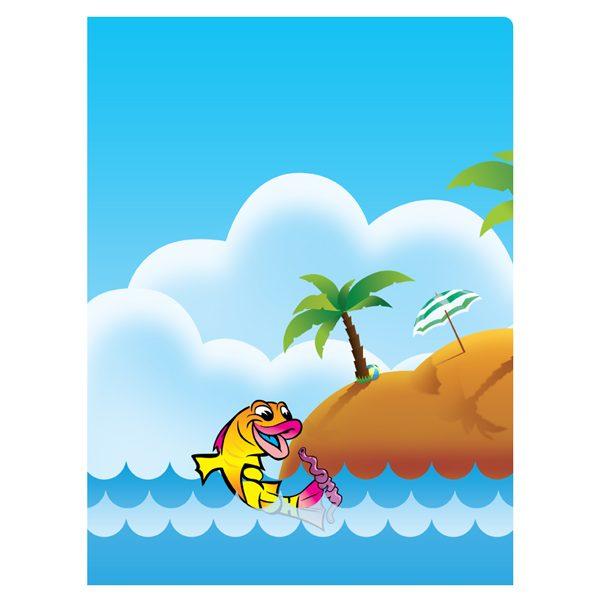 Learning Made Fun Kids School Folders (Back View)