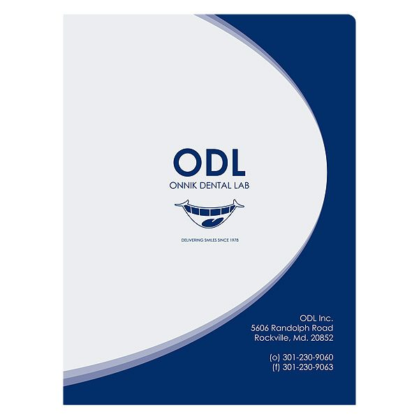 Onnik Dental Lab Dentist Presentation Folder (Front View)