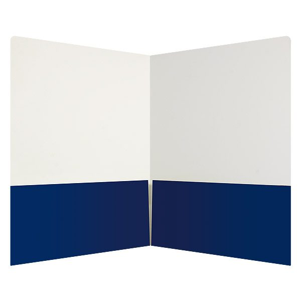 Onnik Dental Lab Blue and White 2-Pocket Folder (Inside View)