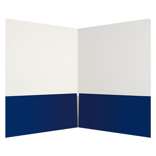 Onnik Dental Lab Blue and White 2-Pocket Folder (Inside View)