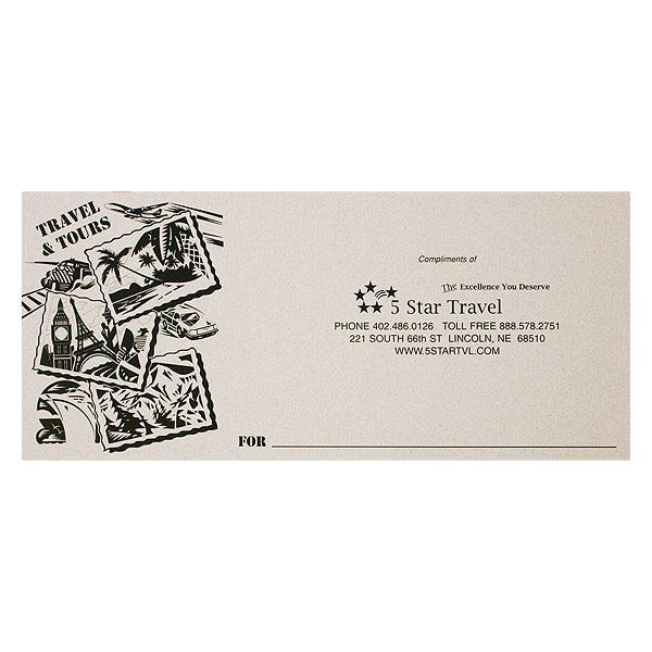 5 Star Travel Services Tour Documents Folder (Front View)