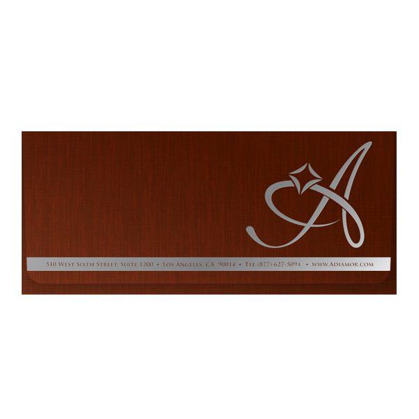 Adiamor Fine Jewelry Linen Document Folder (Front View)